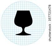 wine glass    black vector icon