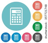 flat calculator icon set on...
