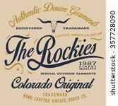 colorado vintage western print... | Shutterstock .eps vector #357728090