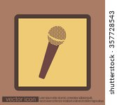microphone sign. musical symbol ... | Shutterstock .eps vector #357728543
