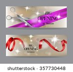 big opening invitation cards... | Shutterstock .eps vector #357730448