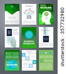 template. set of poster  flyer  ... | Shutterstock .eps vector #357732980