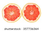 two halves of grapefruit... | Shutterstock . vector #357736364