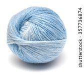 ball with blue thread for... | Shutterstock . vector #357736874