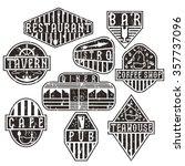 set of grunge vintage labels... | Shutterstock .eps vector #357737096