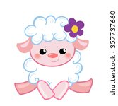 vector illustration cute lamb... | Shutterstock .eps vector #357737660