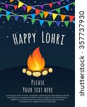 happy lohri celebration. happy... | Shutterstock .eps vector #357737930
