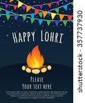 happy lohri celebration... | Shutterstock .eps vector #357737930