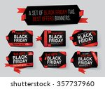 black friday tag. black friday... | Shutterstock .eps vector #357737960