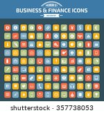 business and financial icon set ... | Shutterstock .eps vector #357738053