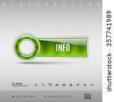 green modern plastic button... | Shutterstock .eps vector #357741989