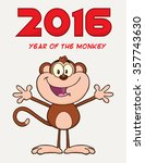Cute Monkey Cartoon Character...
