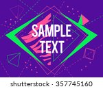 abstract geometric triangle and ... | Shutterstock .eps vector #357745160