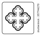 cross icon. traditional... | Shutterstock .eps vector #357746270