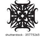 decorative wallpaper design in... | Shutterstock .eps vector #35775265