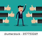illustration of a successful... | Shutterstock . vector #357753269