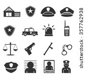 police icon | Shutterstock .eps vector #357762938