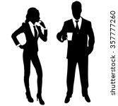 business people standing   Shutterstock .eps vector #357777260