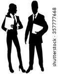 business people with folders  | Shutterstock .eps vector #357777668