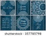 set of business card and... | Shutterstock .eps vector #357785798