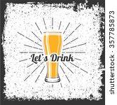 glass of beer | Shutterstock .eps vector #357785873