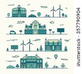 green city concept detailed... | Shutterstock .eps vector #357790904