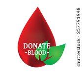blood donation design  vector... | Shutterstock .eps vector #357791948