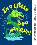 sea monster splashing in some... | Shutterstock .eps vector #357794510