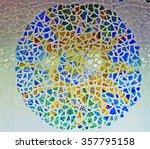 Mosaic Sun Ceramics Wall