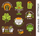 set of happy st. patrick's day... | Shutterstock .eps vector #357795614