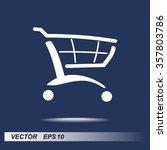 shopping cart sign icon  vector ... | Shutterstock .eps vector #357803786