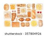 breakfast cereals on white...   Shutterstock . vector #357804926