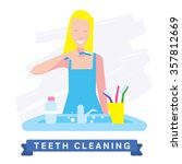 Funny Cartoon People Cleaning...