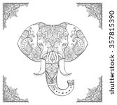 indian elephant head. ornate...