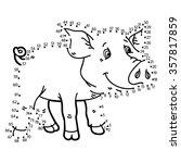 dot to dot pig game. vector... | Shutterstock .eps vector #357817859