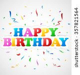 happy birthday background | Shutterstock .eps vector #357821564