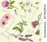 vector vintage seamless pattern ... | Shutterstock .eps vector #357825923