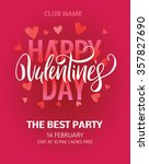 happy valentines day party... | Shutterstock .eps vector #357827690