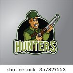 hunters illustration design... | Shutterstock .eps vector #357829553