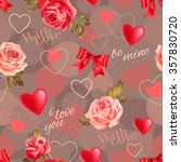 seamless romantic pattern with...