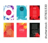 set of abstract flyer   eps10... | Shutterstock .eps vector #357831530