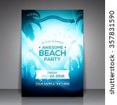 summer beach party flyer  ... | Shutterstock .eps vector #357831590