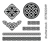 celtic irish patterns and... | Shutterstock .eps vector #357832049