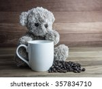 Bear Doll  White Cup  Silver...