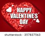 happy valentine's day card....   Shutterstock .eps vector #357837563