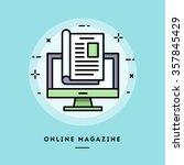online magazine  flat design... | Shutterstock .eps vector #357845429