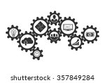 business mechanism concept of... | Shutterstock .eps vector #357849284