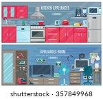 household  horizontal banners... | Shutterstock .eps vector #357849968