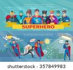 superhero team horizontal... | Shutterstock .eps vector #357849983