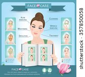 face creams using infographics. ... | Shutterstock .eps vector #357850058